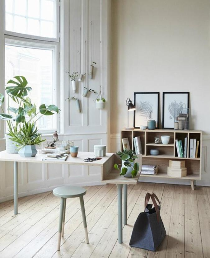 Another idea with putting plants inside your home office. It will look refreshing in pictures but it would be so much more in reality.