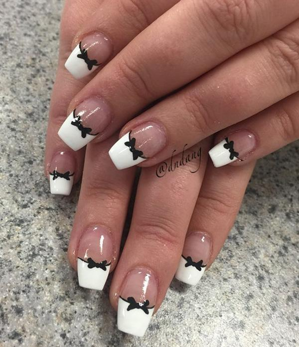 French Manicure With Nail Art Pen Best White