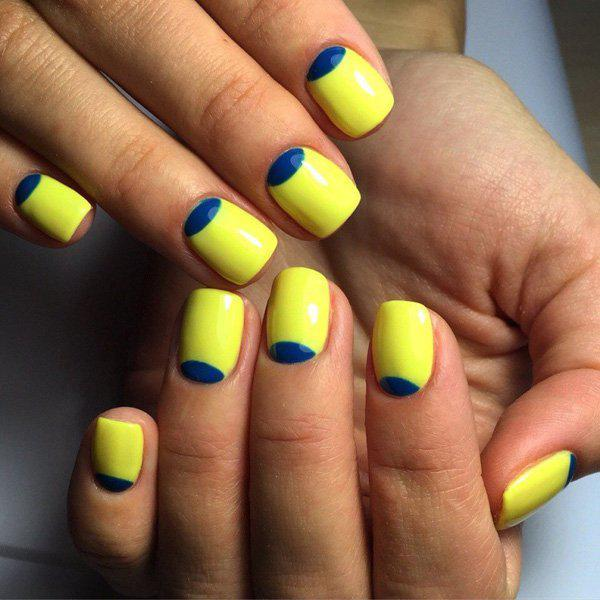 If you wnat a fun combination, try this yellow and royal blue combo. Although simple in design, but fun in colors.