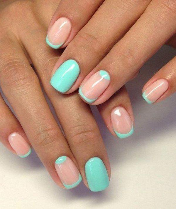 Another Wonderful And Refreshing Minimalist Nail Art Designs Is A Mint Green Bination With