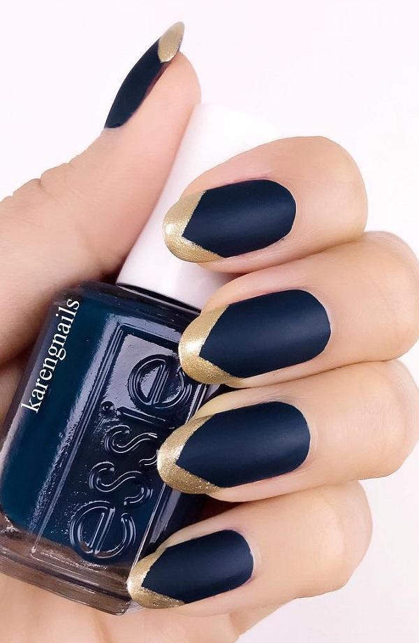 Get Perfect Matte Finish With Royal Blue And Gold Keep It Simple