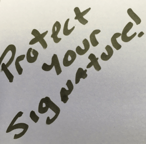 protect your signature