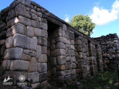Ruins of the Inca temple at Pumapungo.