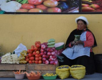 Informal venders are a common sight in Cuenca and much of Ecuador.