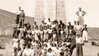 Jewish immigrants at the equator in 1941.