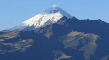 Cotopaxi is about 30 miles south of Quito.