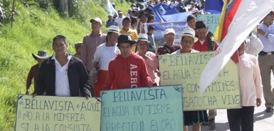 Campesinos in a July 2 protest march.