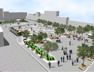 San Francisco Square plan that was rejected.