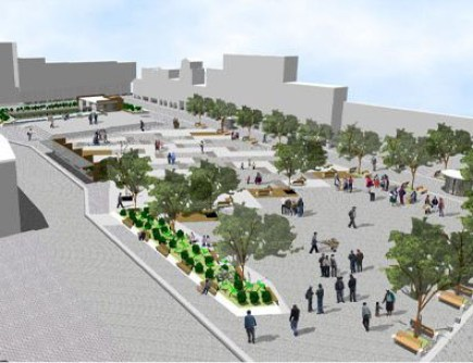 The previous redesign of San Francisco Plaza, developed during the administration of Mayor Paúl Granda.