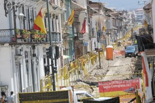 Tram construction on Gran Colombia.