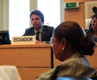 Foreign Minister Guillaurme Long in Geneva.
