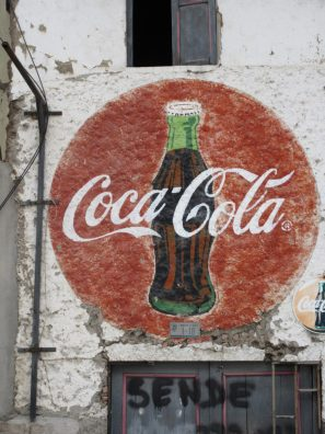 The iconic Coke sign.