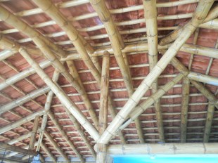 No insulation needed for this bamboo ceiling.
