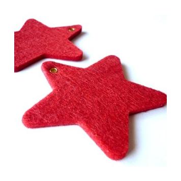 Formas de fieltro Estrella de Navidad para decorar el árbol estas navidades!