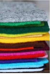 Un fieltro fino en 21 colores
