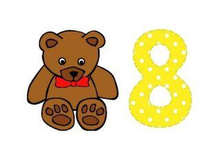 Cuento infantil del número 8