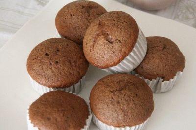 Magdalenas de chocolate caseras