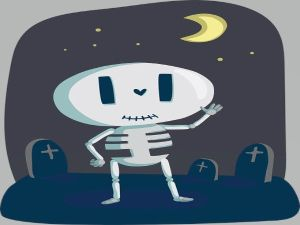 Un esqueleto en el colegio