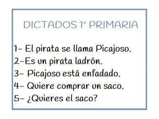 Dictado 1 primaria