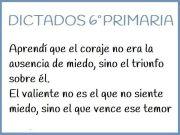 Dictado 6 primaria