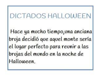 Dictados de primaria. Halloween
