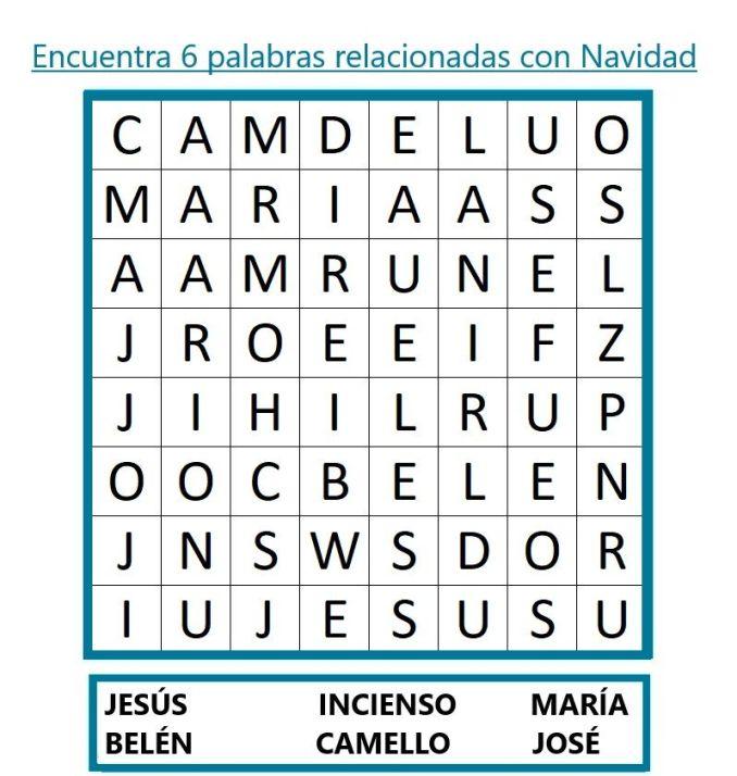 SOPA DE LETRAS DE NAVIDAD