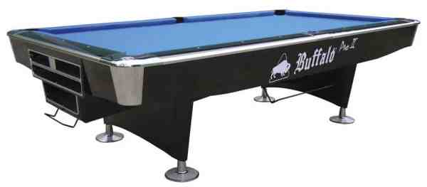Buffalo Pro II High Gloss Black 8ft or 9ft American Pool Table