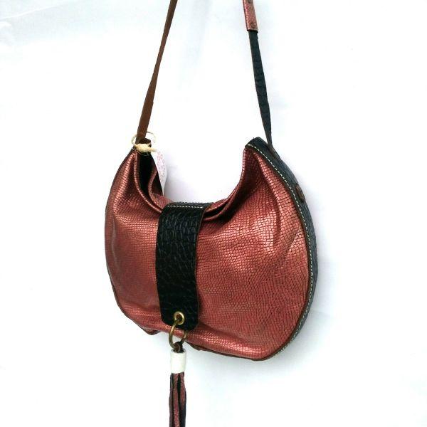 Maxi bolso de piel tipo shopper hecho a mano