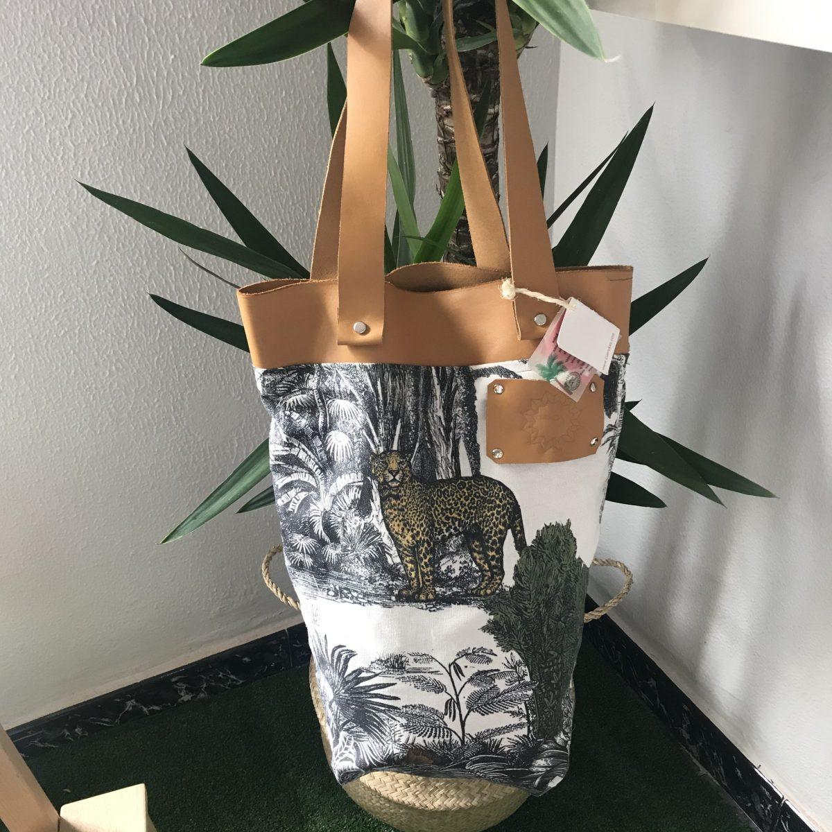 Bolsa De algodón estampado para playa sostenible y ecológica