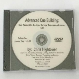 Advanced Cue Building DVD Volume 2: Cue Assembly, Boring, Coring, Tenons and More.-0