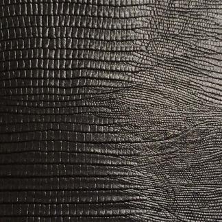 leather wrap black lizard