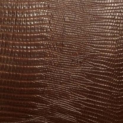 leather wrap brown lizard