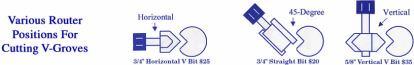 "Router Bit - Vertical V Bit 5/8""-205"