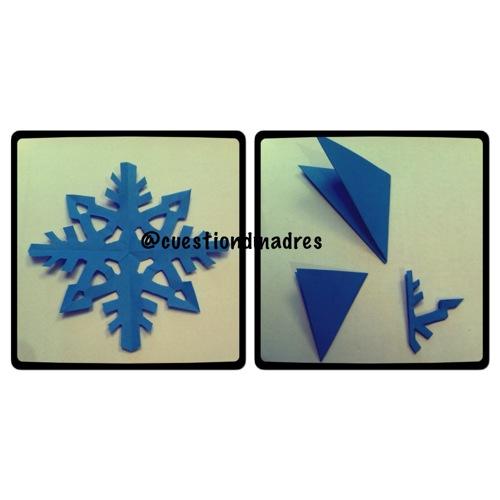 Copos nieve papel