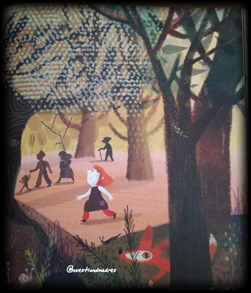 En La canción del bosque conviven los hombres, mujeres y niños de la tribu, los animales y los árboles. Todas en paz y armonía.