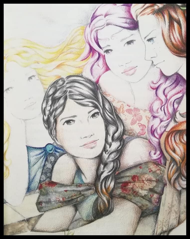 Las cuatro hermanas protagonistas de Las herederas del tiempo
