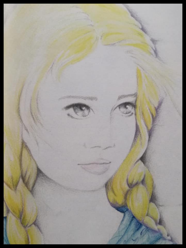 Una de las ilustraciones realizadas por Vicky para Las herederas del tiempo