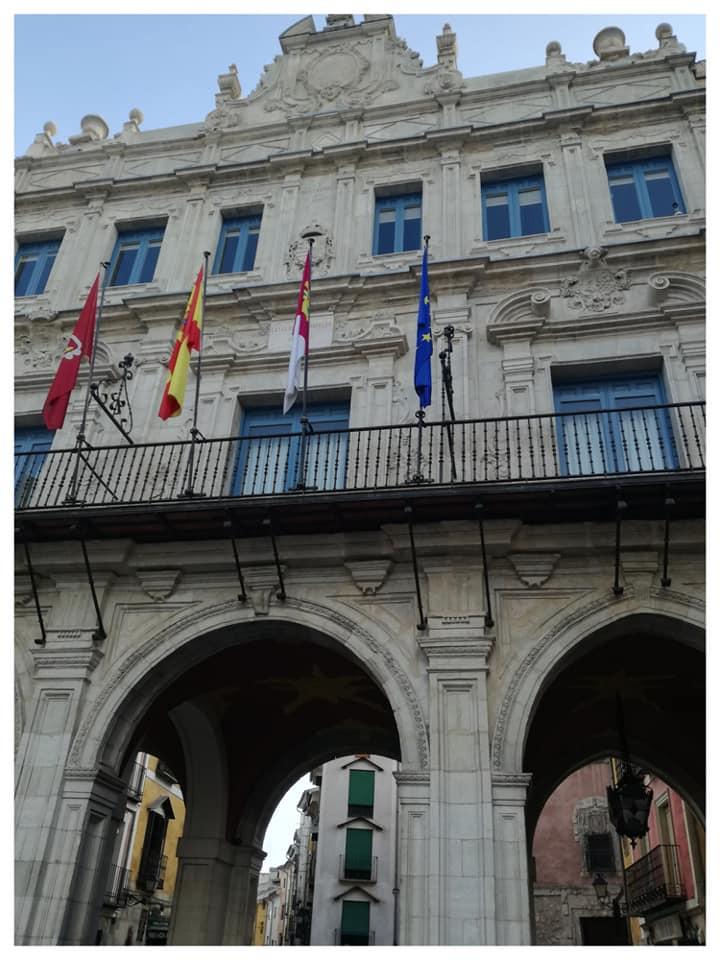 Los Arcos del Ayuntamiento donde comienzan las visitas guiadas a Cuenca