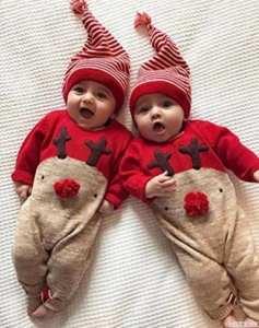 ropa para las fiestas. Pijama bebé reno