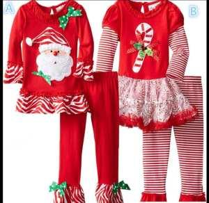 ropa para las fiestas. Conjuntos niña en rojo y blanco