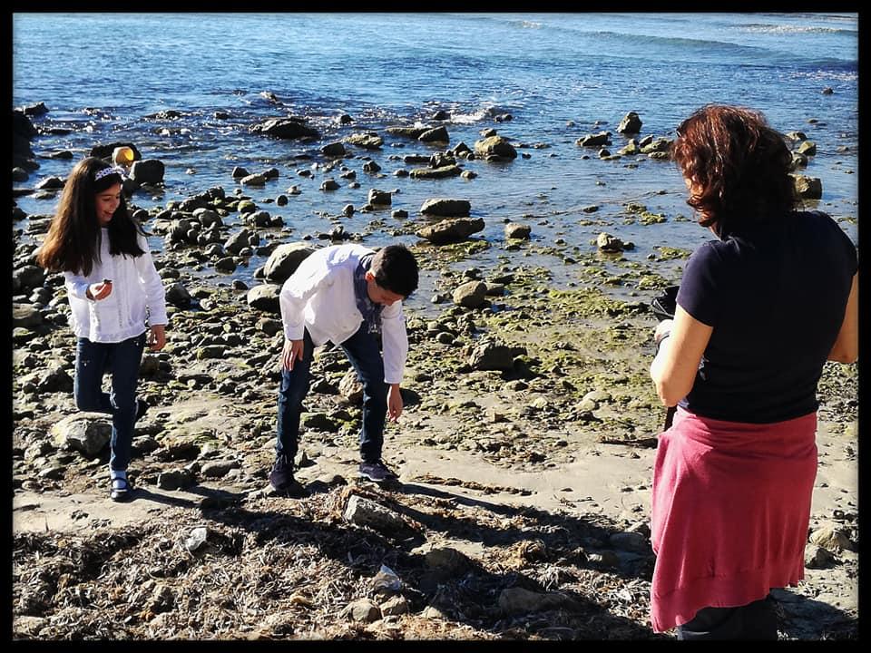 Fotos de Comunión con Belén Rincón. Uno de los momentos durante la sesión en exteriores