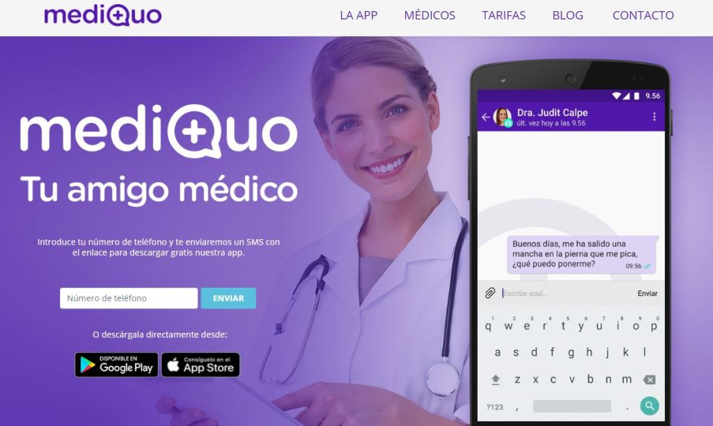 app MediQuo en la web