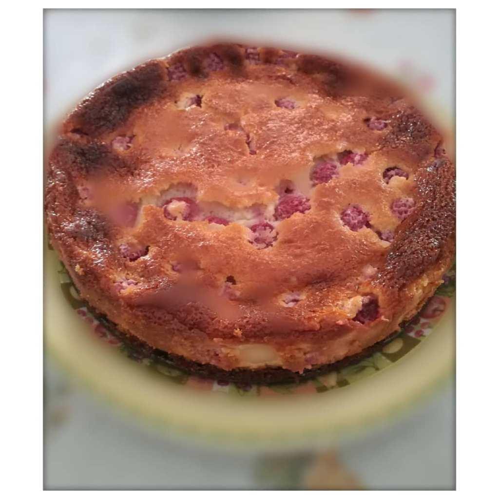 imagen de instagram de nuestra tarta de queso y frambuesas al horno