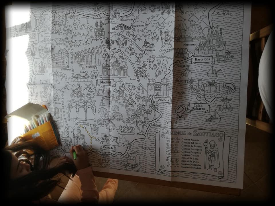 Tamaño del mapa para colorear
