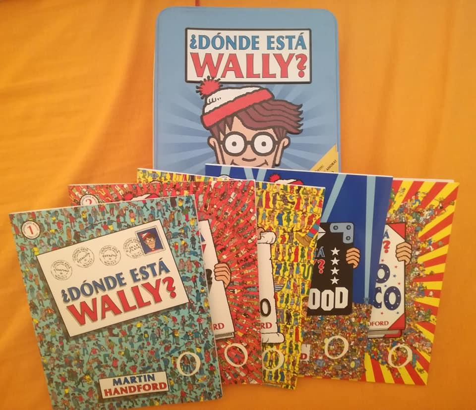 Estuche, de edición limitada, sobre ¿Dónde está Wally? con los cinco libros que contiene