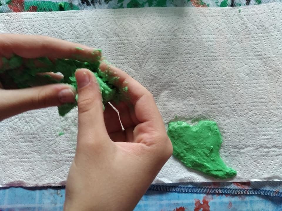 Durante nuestra primera semana de cuarentena hicimos figuras de sal y una de ellas se la regalaron al padre por el Día del Padre