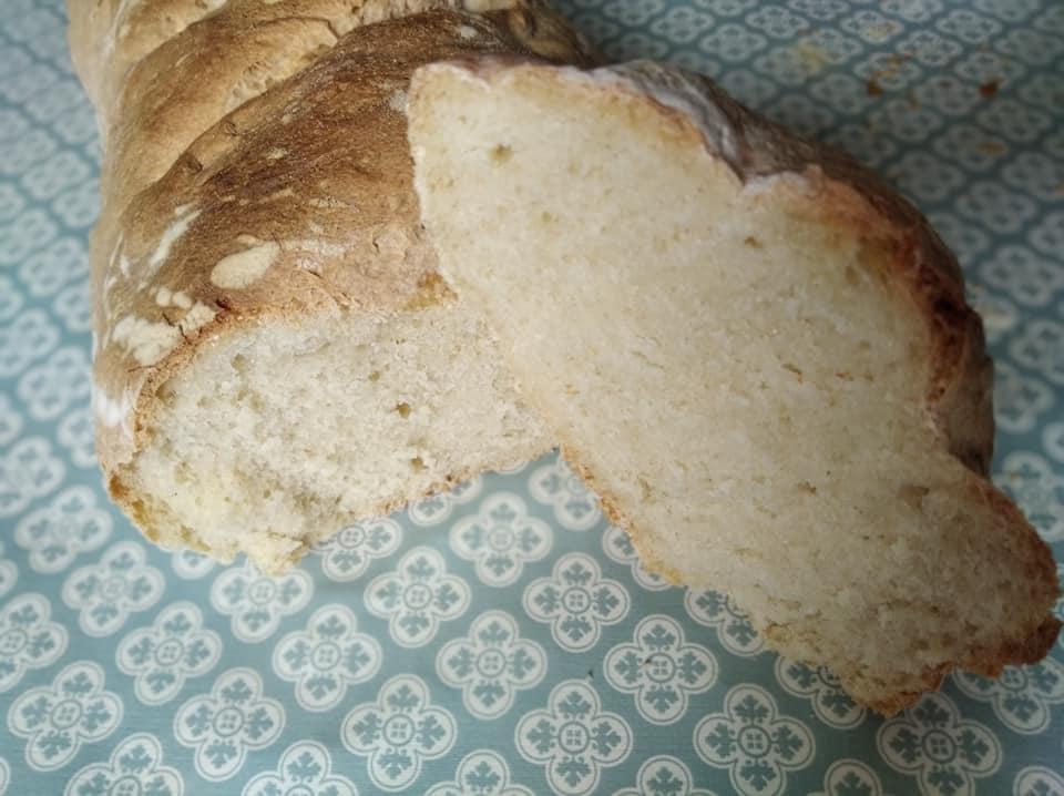 Interior de nuestro pan, listo para comer