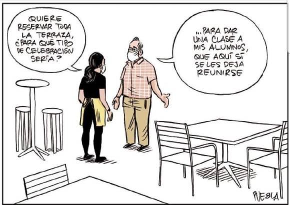 Viñeta que publicó Puebla en El Sacapuntas el 4 de junio