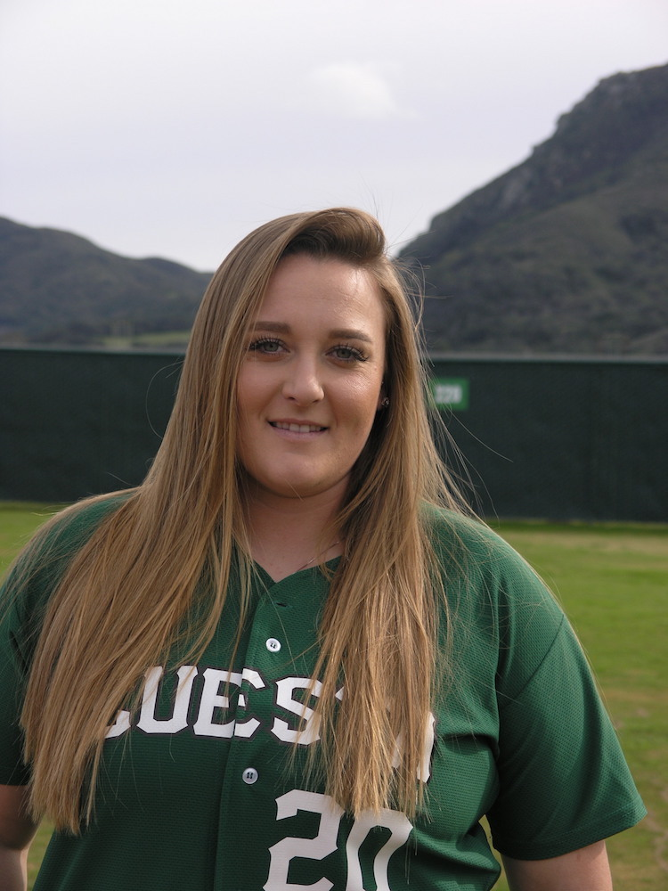 Demi Danell, a second year pitcher for Cuesta's softball team, is being recognized for her outstanding work on and off the field.