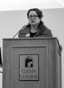 Mayor Harmon addresses students. Photo by Josh Pachio / Cuestonian